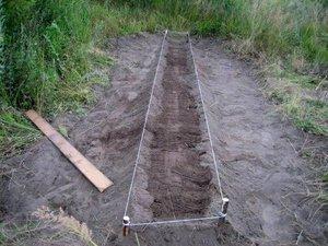 Описание подготовки места для посадки севка