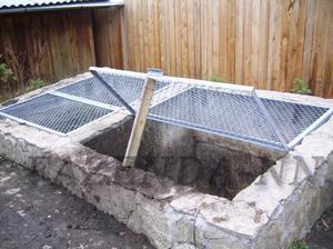 Яма залитая бетоном